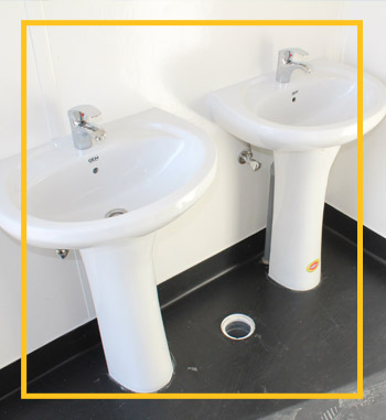 ablution unit for retal