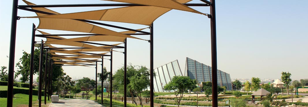 Walkway Shade Structure