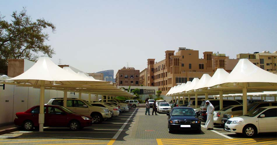 car parking shades Installation in UAE